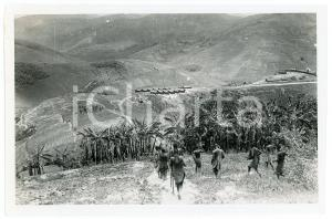 1918 RUANDA - KIGALI - Bananeraie et poste de KASHUNGA *Photo REPRINT 1950