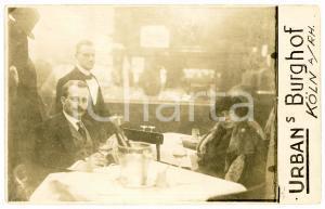 1930 ca KOLN (GERMANY) Urbans Burghof -  At the restaurant *Photo postcard