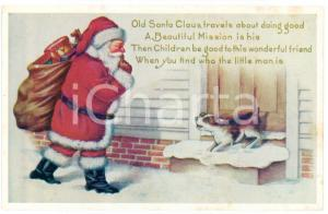 1910 ca CHRISTMAS - Santa Claus bringing toys to children - Postcard