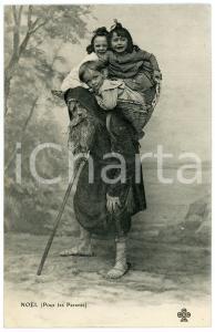 1902 NOËL (Pour les Parents) Santa Claus carrying a basket of children *Postcard