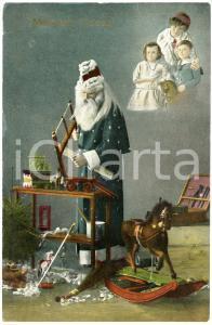 1914 CHRISTMAS Meilleurs Voeux - Santa Claus building toys to children *Postcard