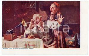 1905 THE PHONOGRAPH - National Phonograph Co. - Advertising DAMAGED postcard