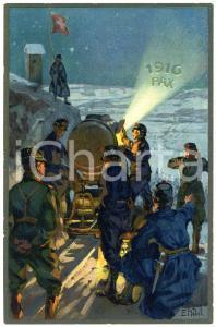 1916 WW1 Artist E. HODEL Hiver 1915/16 - Carte postale GLOBETROTTER 2 Série (1)