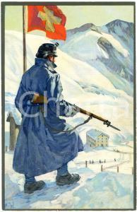 1916 WW1 Artist E. HODEL Hiver 1915/16 - Carte postale GLOBETROTTER 2 Série (5)