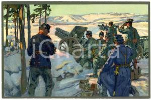 1916 WW1 Artist E. HODEL Hiver 1915/16 - Carte postale GLOBETROTTER 2 Série (4)
