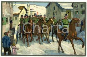 1916 WW1 Artist E. HODEL Hiver 1915/16 - Carte postale GLOBETROTTER 2 Série (3)