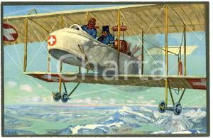 1916 WW1 Artist E. HODEL Hiver 1915/16 - Carte postale GLOBETROTTER 2 Série (2)