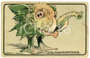 1913 FANTAZOOLOGY Artist Charles R. STANTON Flootenpusher - Postcard FP VG
