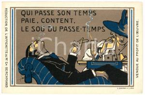 1910 ca BRUXELLES Artist Emile BERCHMANS - Le sou du passe-temps *Postcard