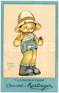 1915 ca Artiste Beatrice MALLET - Chocolat MARTOUGIN *Carte postale publicitaire