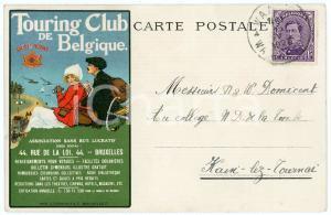 1923 TOURING CLUB DE BELGIQUE - Carte postale illustrée
