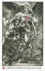 1902 HUMOUR Militaire avec monocle - Carte postale FP VG
