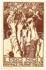 1921 TRIESTE Associazione Democratica Femminile Italiana - Pro Nidi - Cartolina