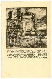 1919 WW1 - PARADISO DI POCENIA Artista RAVANELLI Cartolina illustrata FP NV