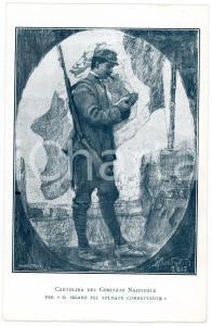 1915 ca WW1 Comitato SIGARO PEL SOLDATO COMBATTENTE Cartolina FP NV