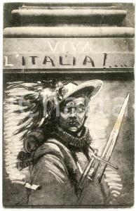 1915 FIRENZE Birreria PASZKOWSKI Viva l'Italia di PICCIOLI - Cartolina WW1