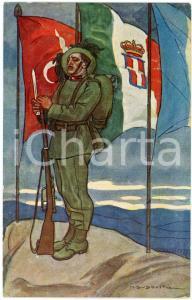 1915 ca VENEZIA - IRREDENTISMO Artista Marcello DUDOVICH Cartolina illustrata FP
