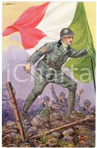 1918 WW1 L'inno degli Arditi di BLACH Cartolina ILLUSTRATA FP NV