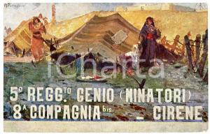 1916 WW1 - 5° Reggimento Genio Minatori - 8^ Compagnia bis Cirene - Cartolina FP