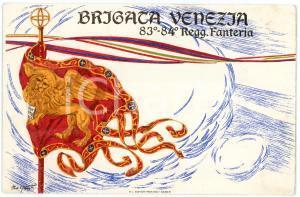1915 ca WW1 - BRIGATA VENEZIA 83° - 84° Reggimento Fanteria - Cartolina FP NV