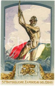 1915 ca WW1 - 51° Battaglione Zappatori del Genio - Artista E. FANTI Cartolina