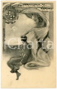 1900 ca REGIO ESERCITO - 6° Compagnia di Sanità - Cartolina ILLUSTRATA FP VG