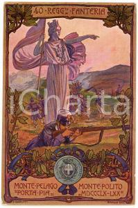 1904 REGIO ESERCITO - 40° Reggimento Fanteria - Artista A. BARUFFI Cartolina FP