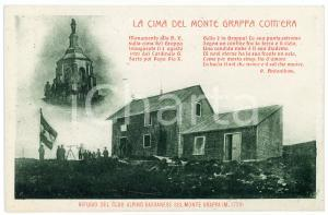 1915 ca WW1 Monte Grappa com'era - Rifugio Club Alpino Bassanese - Cartolina FP