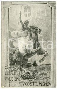 1915 WW1 - PALERMO Comitato Difesa Civile XXX Cavalleggeri - Cartolina FP NV