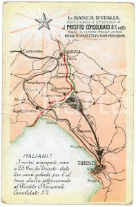 1915 ca TRIESTE - BANCA D'ITALIA Prestito consolidato - Cartolina ILLUSTRATA FP