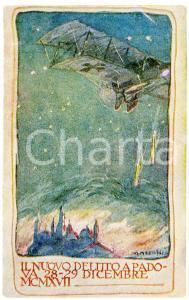 1917 WW1 Artista G. MAZZONI Nuovo delitto a Padova - Cartolina FP NV