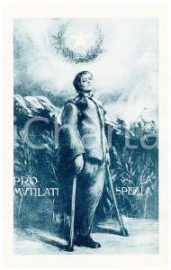1916 WW1 - LA SPEZIA Pro Mutilati - Enrico TOTI Cartolina ILLUSTRATA FP NV