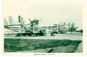 1933 ROMA Idroscalo - Panorama con idrovolanti - Cartolina FP VG