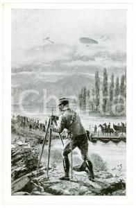 1920 ca ESERCITO ITALIANO Genio militare - Cartolina ILLUSTRATA FP NV