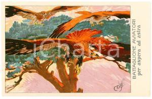 1915 ca WW1 - BATTAGLIONE AVIATORI Artista Duilio CAMBELOTTI - Cartolina FP NV