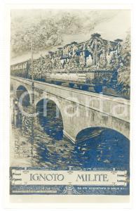 1920 ca WW1 - MILITE IGNOTO Artista Giulio RICCI - Cartolina FP NV