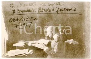 1917 WW1 Gabriele D'ANNUNZIO scrive alla redazione de IL SOLDATO Cartolina FP NV