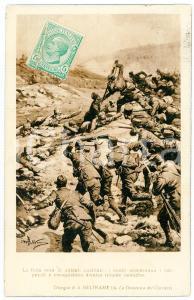 1919 WW1 Artista Achille BELTRAME Finta resa dei soldati austriaci - Cartolina