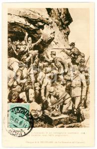 1919 WW1 Artista Achille BELTRAME Battaglione austriaco sul Monte Nero Cartolina