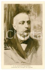 1915 ca GRANDE GUERRA Antonio SALANDRA Presidente del Consiglio - Cartolina FP