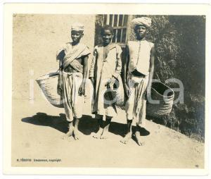 1910 ca Anglo-Egyptian SUDAN - TALI - Young porters - Photo R. TÜRSTIG 10x12 cm