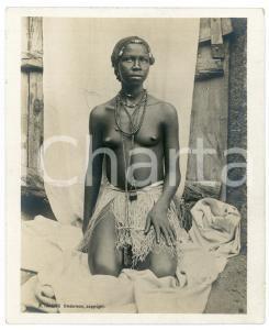 1910 ca Anglo-Egyptian SUDAN - Native woman - ETHNIC NUDE - Photo R. TÜRSTIG