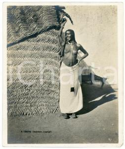1910 ca Anglo-Egyptian SUDAN - JA'ALIN girl - ETHNIC NUDE - Photo R. TÜRSTIG