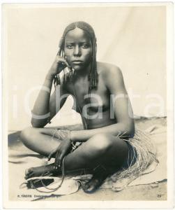 1910 ca Anglo-Egyptian SUDAN - Native young woman - ETHNIC NUDE - Photo TÜRSTIG