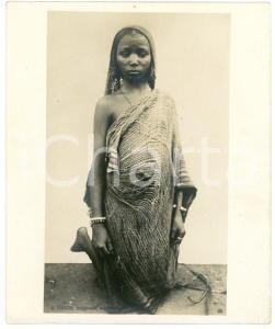 1910 ca Anglo-Egyptian SUDAN - Veiled native girl - Photo R. TÜRSTIG