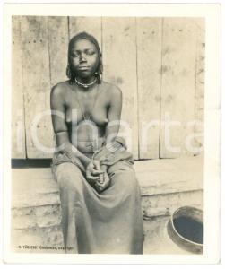 1910 ca Anglo-Egyptian SUDAN - SHILLUK girl - ETHNIC NUDE - Photo R. TÜRSTIG
