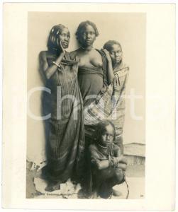 1910 ca Anglo-Egyptian SUDAN - DARFUR women - Photo R. TÜRSTIG 10x12 cm