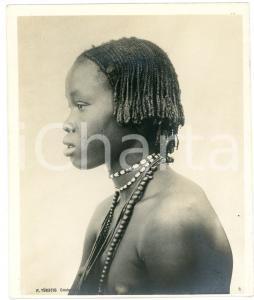 1910 ca Anglo-Egyptian SUDAN - DINKA young girl - Portrait *Photo R. TÜRSTIG