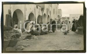 1920 ca BISKRA (ALGERIA) COSTUMI - Mercato tradizionale (4) - Foto 14x9 cm