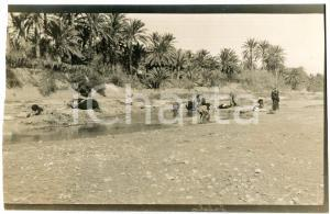 1920 ca ALGERIA - Oasi - Bagno in un torrente -  Foto VINTAGE 14x9 cm